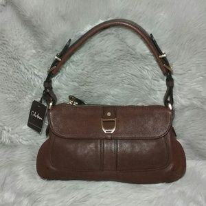 New Cole Haan Saddle Chestnut Purse